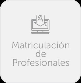 Matriculacion de Profesionales