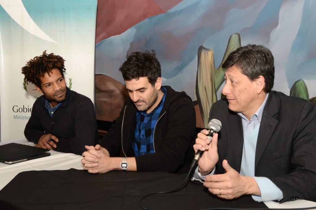 """Aldana junto al Director y el Productor de la película """"Los Dias Según Ellos"""""""