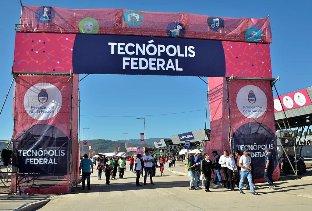 Tecnopolis Federal, acceso principal a la muestra.