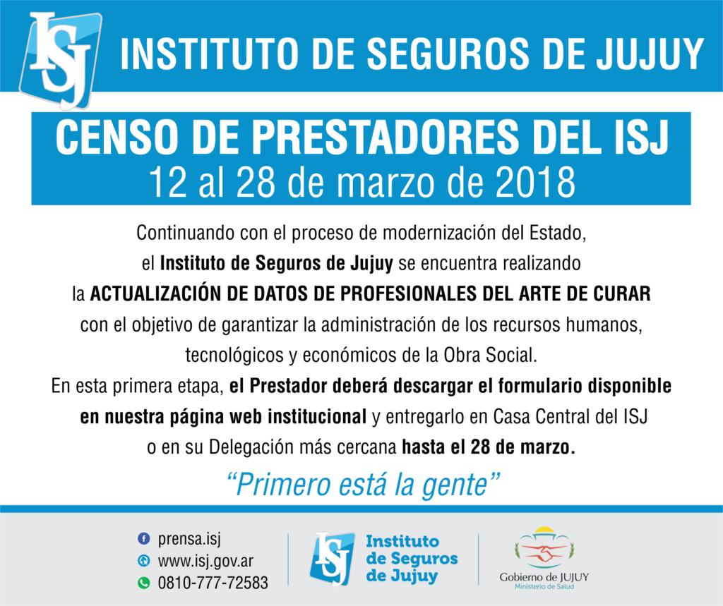 Censo Prestadores
